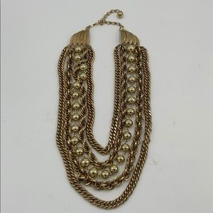 Vintage gold chunky multi chain necklace